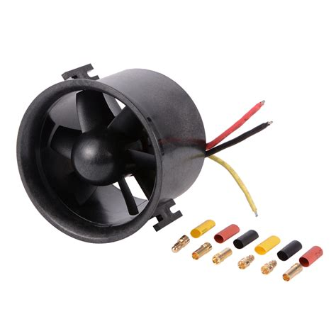 rc ducted fan engine 70mm duct fan 6 blade with 3000kv brushless motor for rc