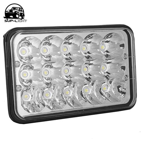 Square Hl By Heaven Lights 1 pcs 4x4 road led 5 quot square headl h4 with low hi beam driving light 4x6 headlights for