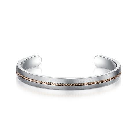 Bangle Titanium 8 8mm titanium rope inlaid bangle small medium size bangles tag at elma uk jewellery