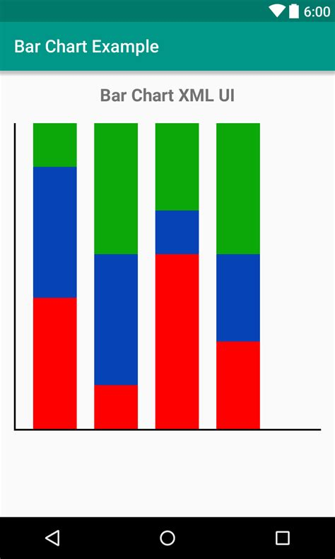 android layout xml new line bar chart xml ui design for android viral android