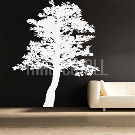 tree silhouette wall sticker wall decals canada wall stickers toronto leaning tree
