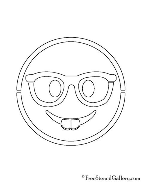 emoji nerd stencil  stencil gallery