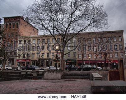clinton square in syracuse new york at sunrise stock