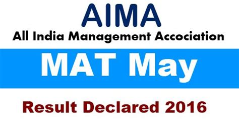 Mat Aima Result by Mat May Results 2016