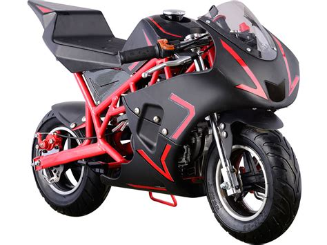 Mini Motorrad Pocket Bike by Mototec Cali Gas Pocket Bike 40cc 4 Stroke Red