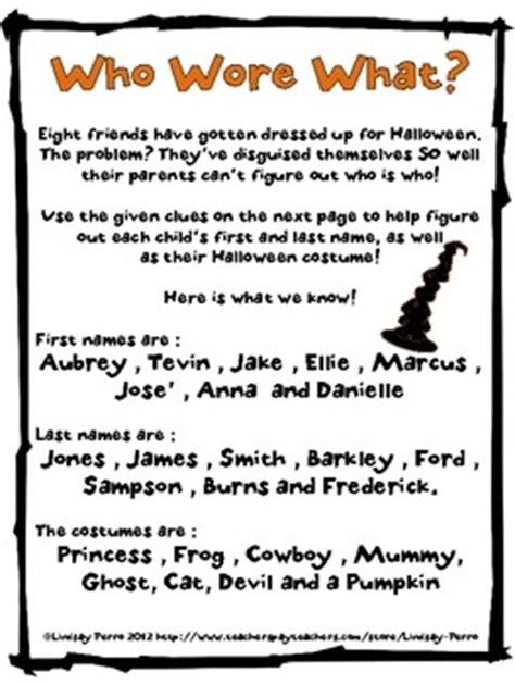 printable halloween logic puzzles halloween logic puzzle