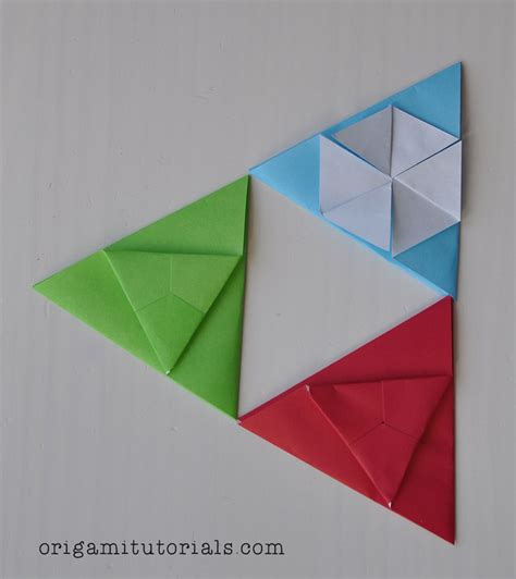 Triangle Origami - origami hexagonal tatou tutorial origami tutorials