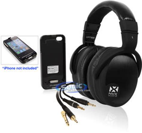 Hp Iphone Eraphone nvx xpt100 ear studio headphones i fuzen iphone 4