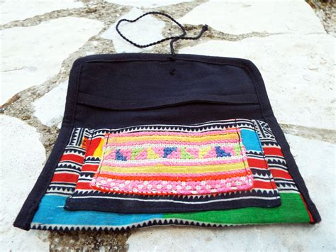 Handcrafted Textiles - tobacco pouch cotton handmade fabric pocket