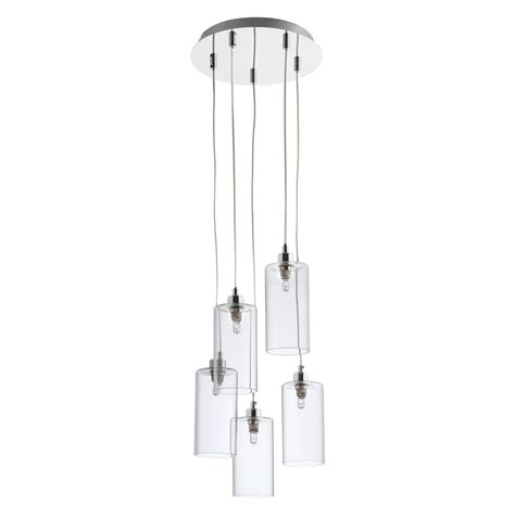 anni glass and metal 5 drop ceiling light buy now at
