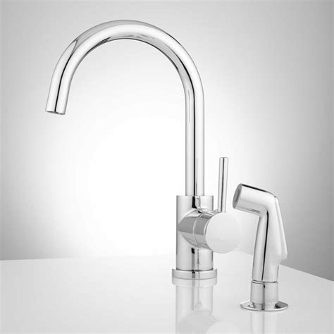 Kitchen Spray Faucet Lora Gooseneck Single Handle Kitchen Faucet With Side Spray Kitchen Faucets Kitchen