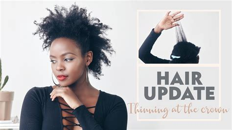 natural hair thinning crown natural hair update crown section breakage thinning