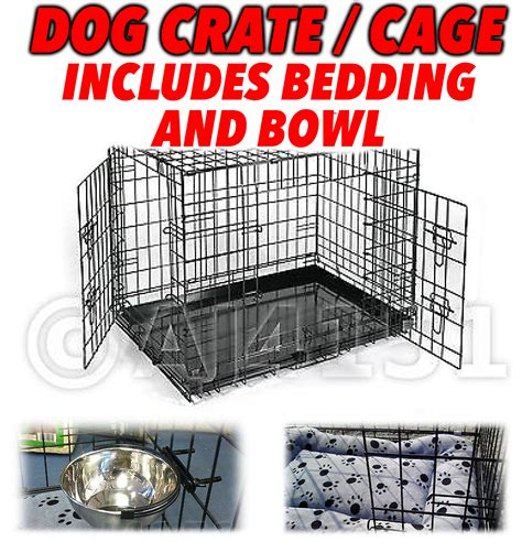 crate a puppy overnight pet puppy overnight transport crate cage with bedding bowl ebay