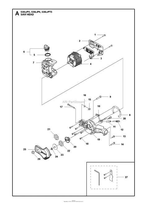 husqvarna lipt parts diagram   head