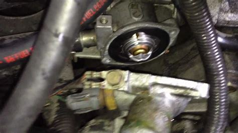 replacing a thermostat acura integra youtube