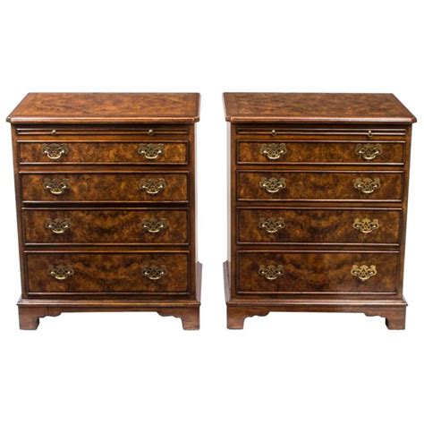 Chest Of Drawer Slides Pair Of Walnut Bedside Chests Cabinets With Slides For