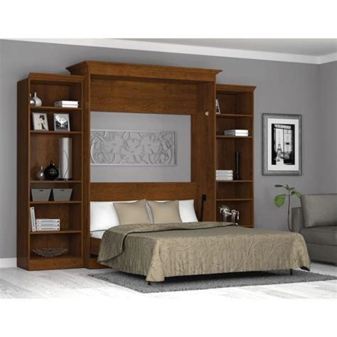 Headboard Storage Unit King Bed Wall Unit Bestar Wall Bed With Two 25 Quot Storage Units In Tuscany Brads Board