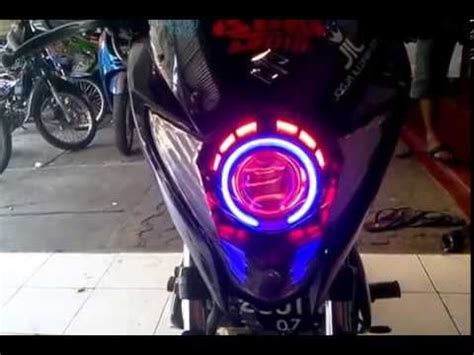 Lu Hid Motor Smash projector retrofit honda scoopy mh1 and 40w hpl funnydog tv
