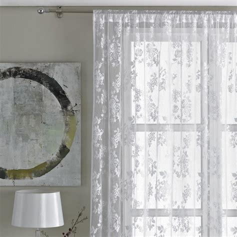 net curtains uk sale vintage floral lace curtain panel white tonys textiles