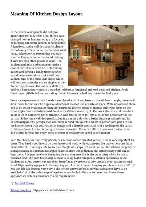 meaning layout by meaning of kitchen design layout