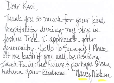 Thank You Letter Hospitality thank you note for hospitality sales report template