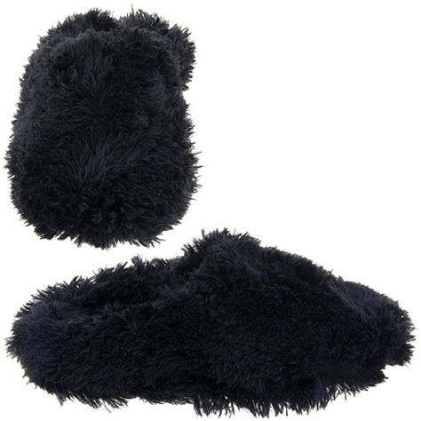 black fuzzy slippers black fuzzy slippers for by tru fit fuzzy ballet