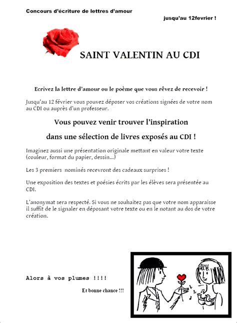 Présentation Lettre D Amour Concours Quot Lettres D Amour Quot Au Cdi Coll 232 Ge Jean Tarn