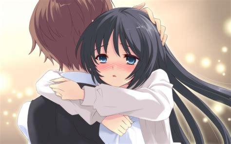 couple crying hd wallpaper anime hug wallpaper wallpapersafari