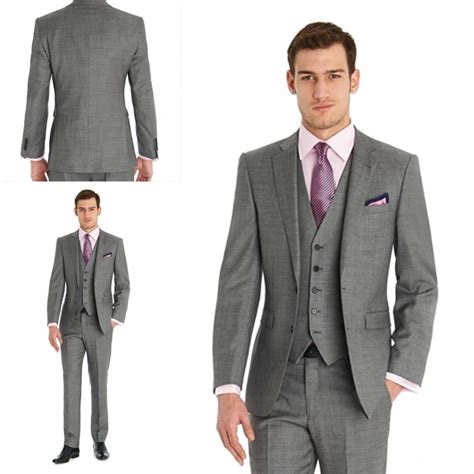 Gshop Amd Jaket Pria Abu Abu 1383 custom 2015 grey new handsome wedding tuxedos design