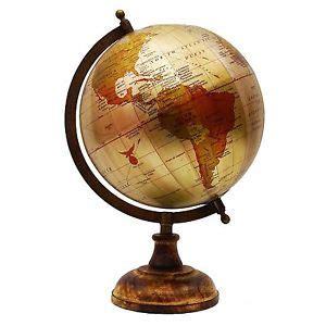 Globe Decor Big Rotating Desktop Globes Earth Globe World