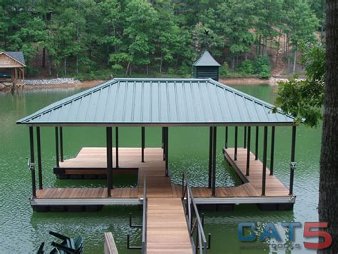 floating aluminum boat house lake house deck designs boat dock designs building plans