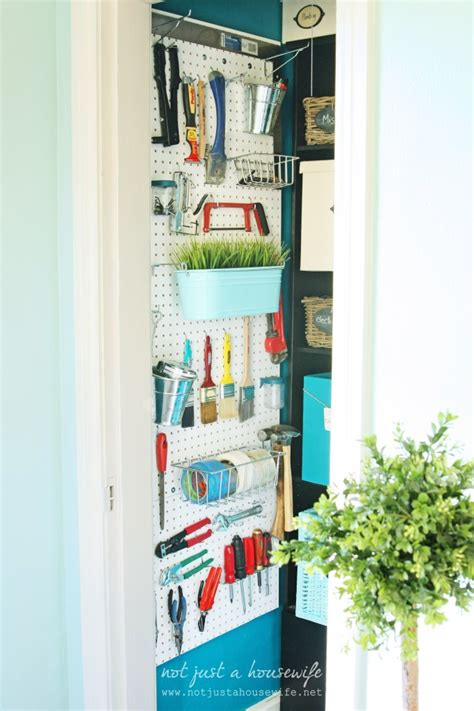 Pegboard Closet Organizer by 10 Awesome Pegboard Projects Organize And Decorate