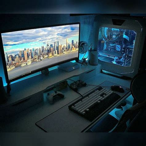 desk for gaming setup best 25 pc gaming setup ideas on gaming setup