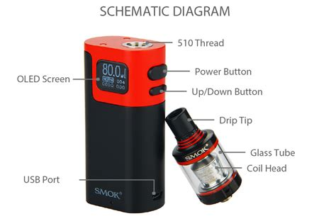 Smok Spirals Glass Glasstube Replacement Spiral smok g80 kit with spirals tank w o battery