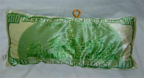 100 dollar bill franklin plush throw pillow 15 quot x 7