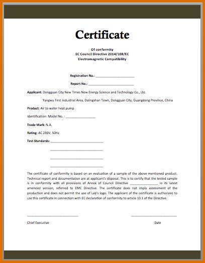 Letter Of Conformance Template by Certificate Of Conformance Templatereference Letters Words