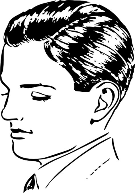 young man head clip art boys side part clip art at clker com vector clip art