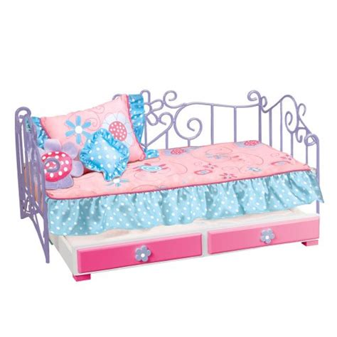 our generation doll bed our generation metal bed with trundle and pink bedspread