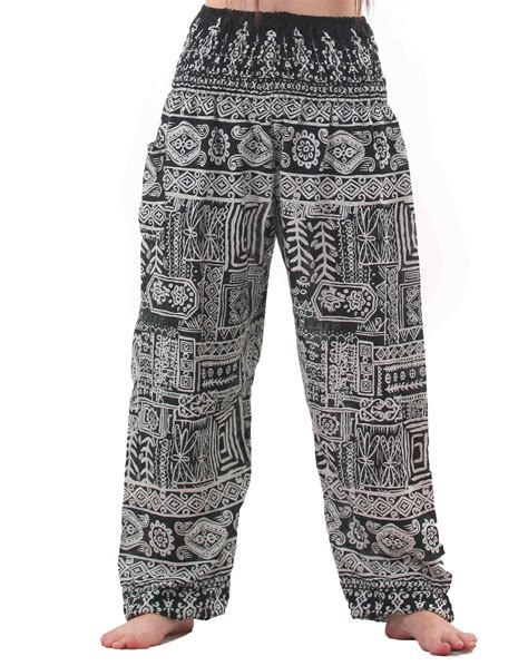 Tribal Pant by Tribal Aztec Harem In Green And White