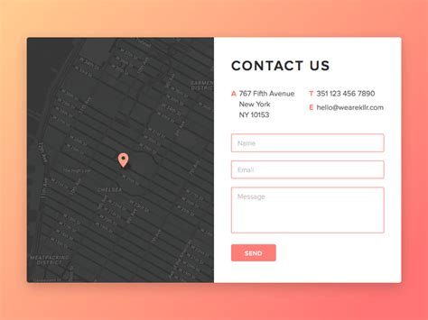 Phone Number To Address Lookup Usa Contact Us Page Design Freebie Sketch Resource Sketch Repo