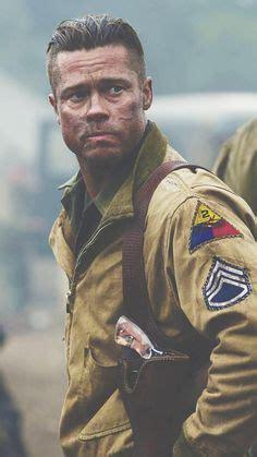army haircut fury brad pitt in fury firing captured german mp44 photos