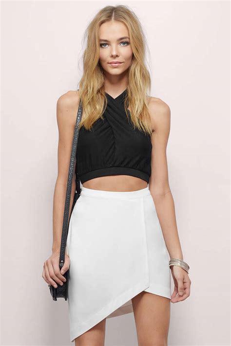 My Asymetris White my side asymmetric skirt 13 00 tobi