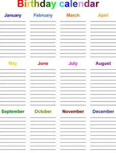 list calendar template birthday list template 12 free psd eps in design