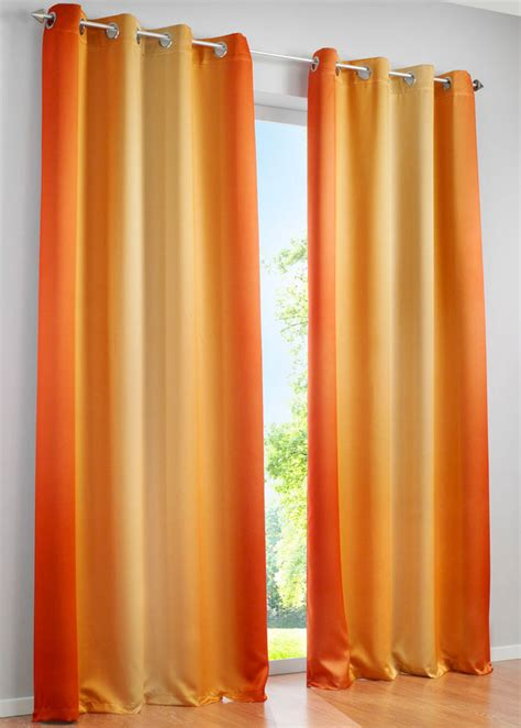 orange black out curtains blackout curtains and drapes rainbow colored curtain decor