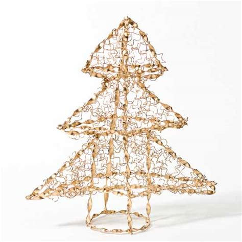 gold wire christmas tree christmas trees and toppers