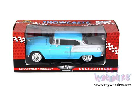 news diecast toys die cast model cars collectible 1955 chevy bel air hard top by showcasts collectibles 1 24