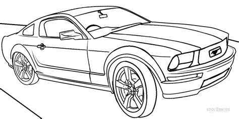 Printable Mustang Coloring Pages For Cool2bkids