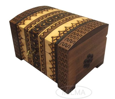 Handmade Wooden Chest - handmade wooden chest linden wood jewelry keepsake