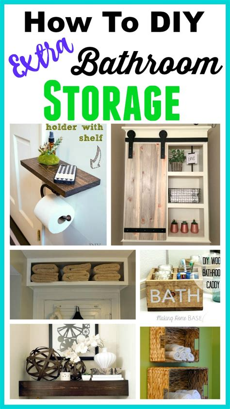 small bathroom ideas diy space saving diy bathroom storage ideas