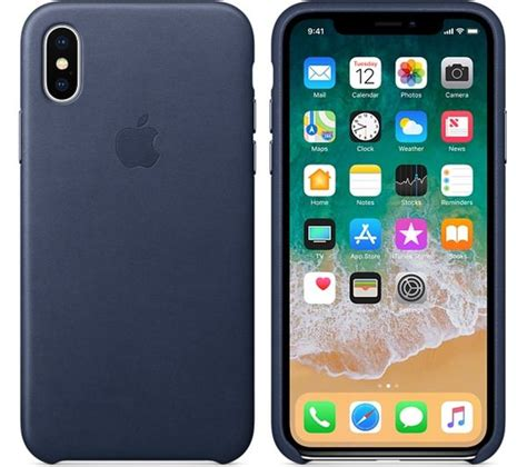 Iphone X Leather Midnight Blue Original Hardcase Soft Kulit Apple apple iphone x leather midnight blue deals pc world